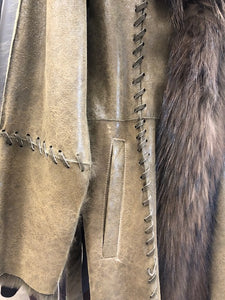 Detail - Racoon/Rabbit Jacket with Sash Waist