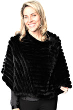 Load image into Gallery viewer, Black Knitted Rexx Poncho