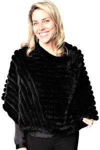 Black Knitted Rexx Poncho