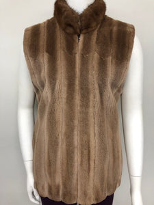 Light Brown Sheared Mink Vest
