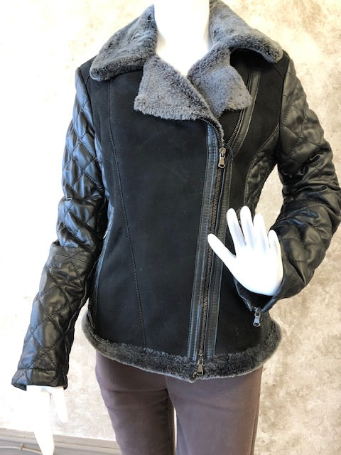 Black Shearling/Lamb Skin Jacket