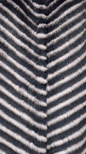 Load image into Gallery viewer, Blue/ Gray Striped Mink Cape