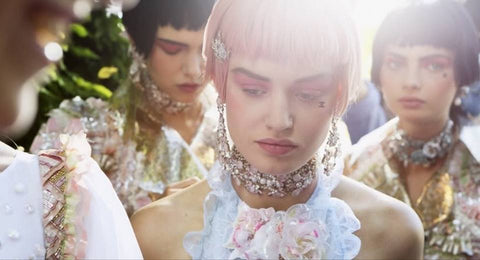 Chanel runway fashion couture jewel make-up cosmetics mouche skin jewel marbella
