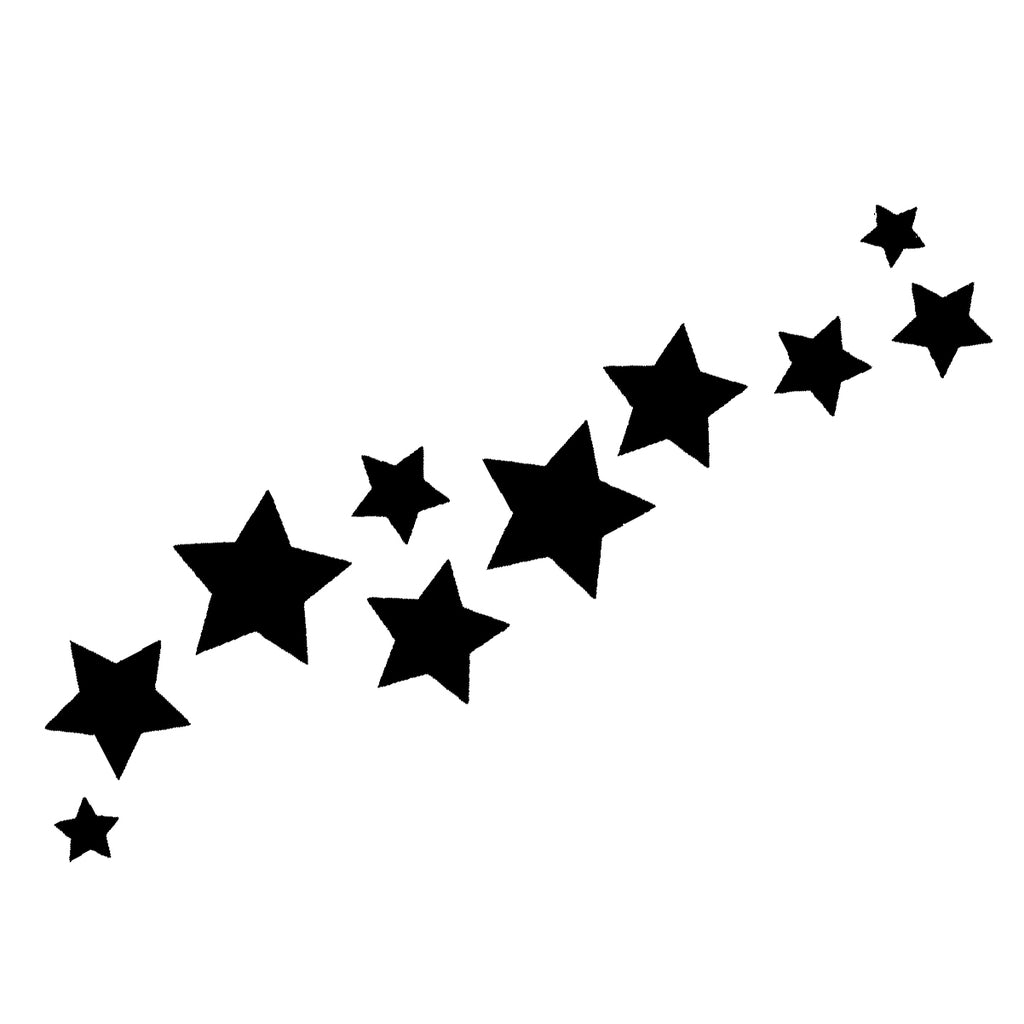 Shooting Stars Tattoo - Black