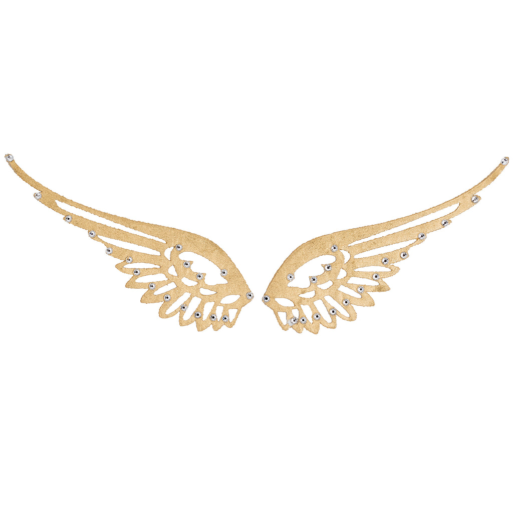 Miss Baby Wings Tattoo - Gold