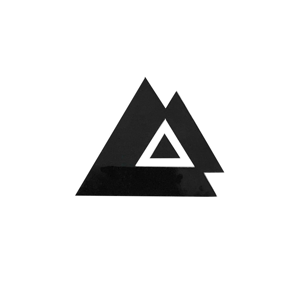 Triangles Duo Tattoo - Black
