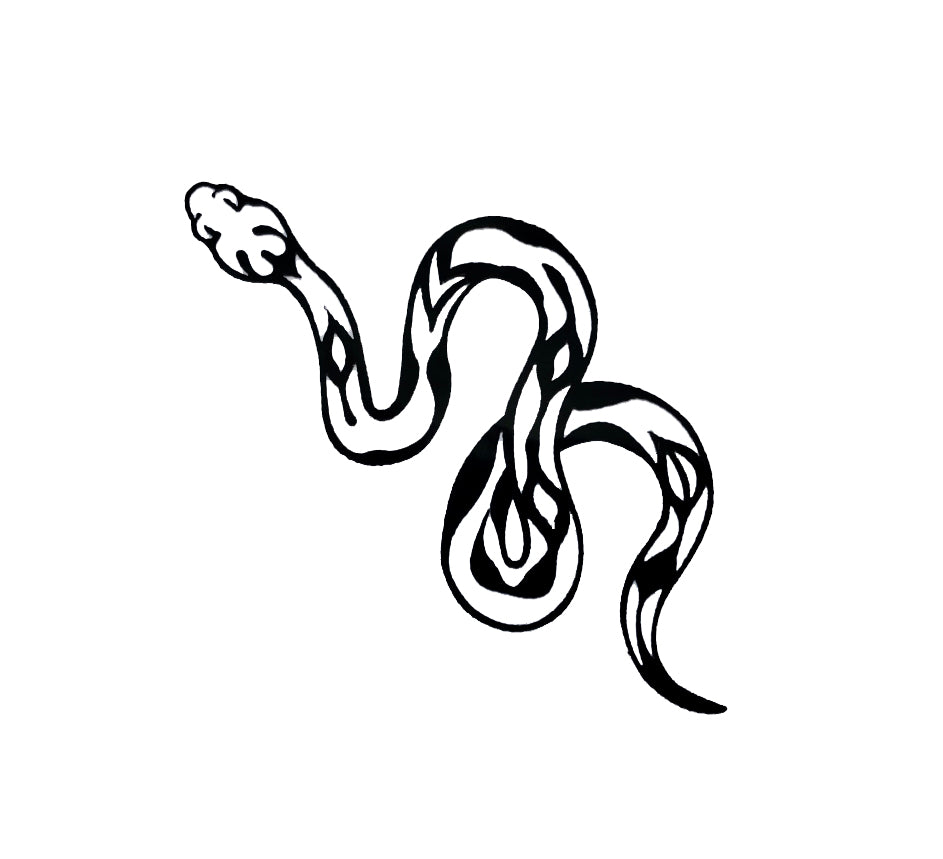 Snake Tattoo- Black