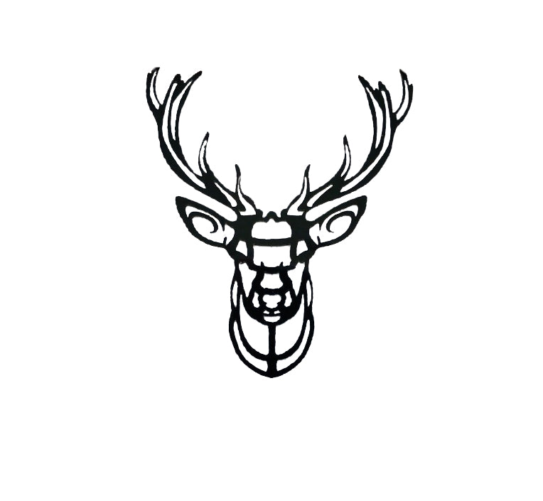 Stag Tattoo - Black