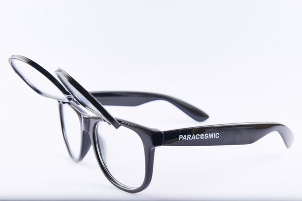 PARACOSMIC Double Diffraction Glasses - Black - PARACOSMIC