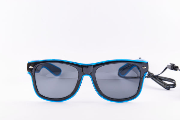 PARACOSMIC Light Up Sunglasses - Blue - PARACOSMIC