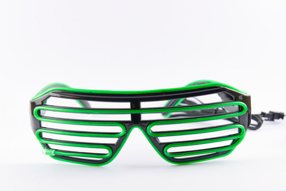 PARACOSMIC Light Up Shutter Shades - Green