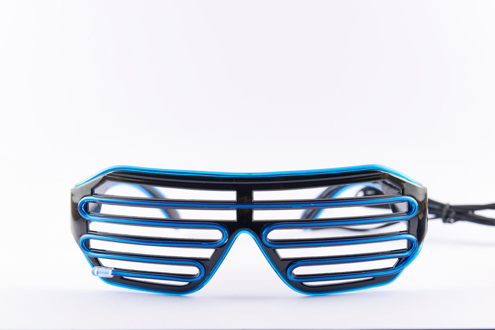 PARACOSMIC Light Up Shutter Shades - Blue