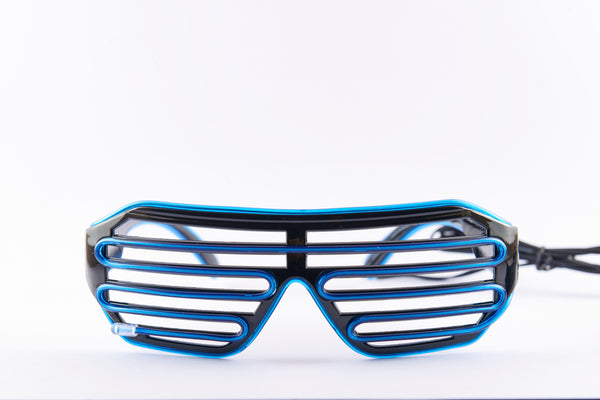 PARACOSMIC Light Up Shutter Shades - Blue - PARACOSMIC