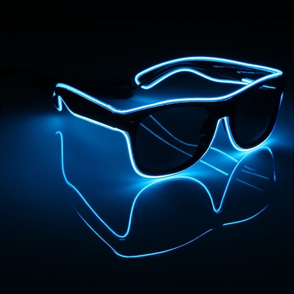 PARACOSMIC Light Up Sunglasses - Blue