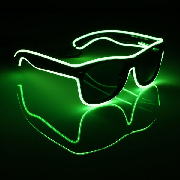 PARACOSMIC Light Up Sunglasses - Green