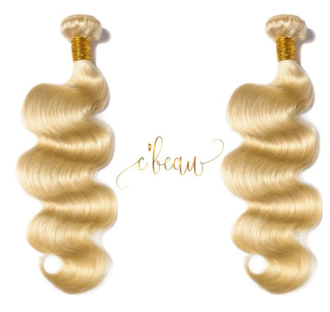 Blonde Brazilian Virgin Hair - Body Wave 2 Bundles