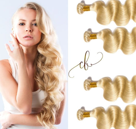 Blonde Brazilian Virgin Hair - Body Wave 4 Bundles