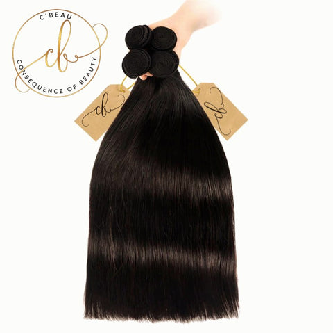 Brazilian Virgin Hair - Straight 4 Bundles