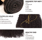 Brazilian Virgin Hair - Curly 3 Bundles