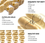 Blonde Brazilian Virgin Hair - Body Wave 3 Bundles