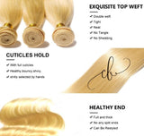 Blonde Brazilian Virgin Hair - Straight 2 Bundles