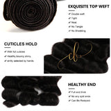 Brazilian Virgin Hair - Loose Deep Wave 4 Bundles