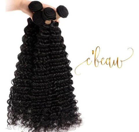 Brazilian Virgin Hair - Deep Wave 4 Bundles