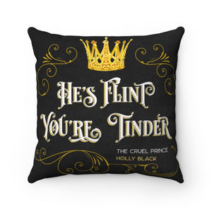 He's Flint Pillow Cover -- CP Inspired.