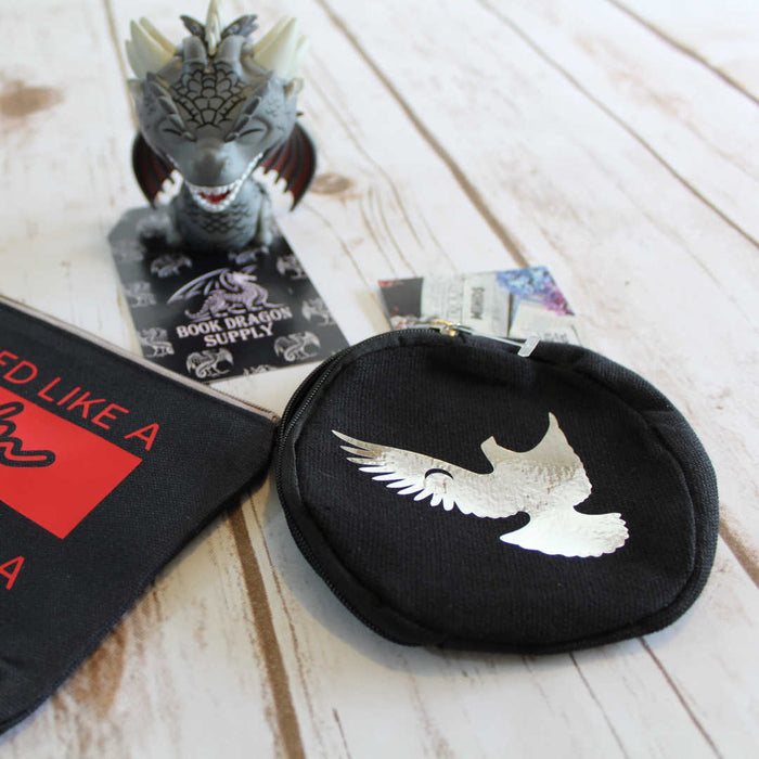 Coin Purse - Black and Silver - Muse of Nightmares