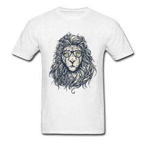 Bookish Lion Cotton T-shirt