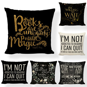 General Bookish Pillow Cases - 18 x 18