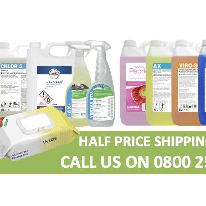 Half price shipping until 31st December!! | Brilliant Chemical Solutions
