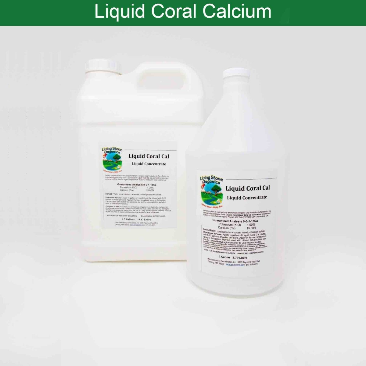 Concentrated Liquid Coral Calcium - Terra Biotics