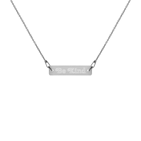 Be Kind Engraved Chain Necklace