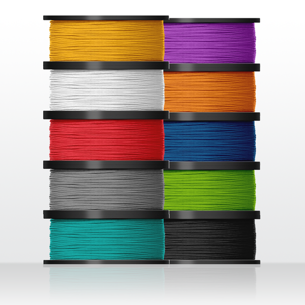 10 x rolls biodegradable PLA filament (for Inventor IIs)