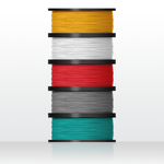 5 rolls biodegradable PLA filament (for Inventor IIs)