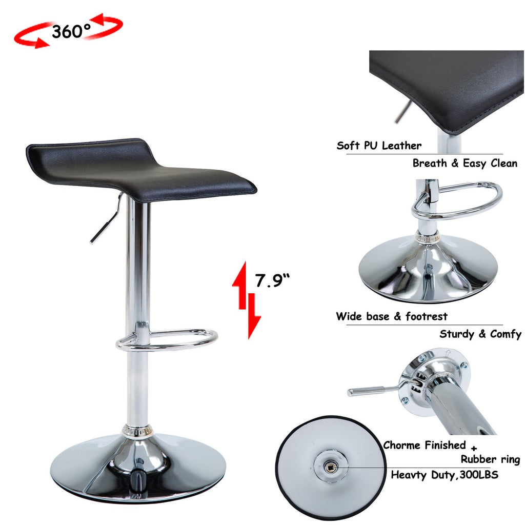 Cool Modern Bar Stools For Kitchen Counter Chrome Finish Black Gamerscity Chair Design For Home Gamerscityorg