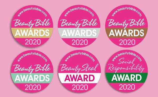 We've Won GOLD and SILVER in the 2020 Beauty Bible Awards!
