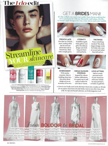 Page from Brides Magazine featuring Tri-Balm