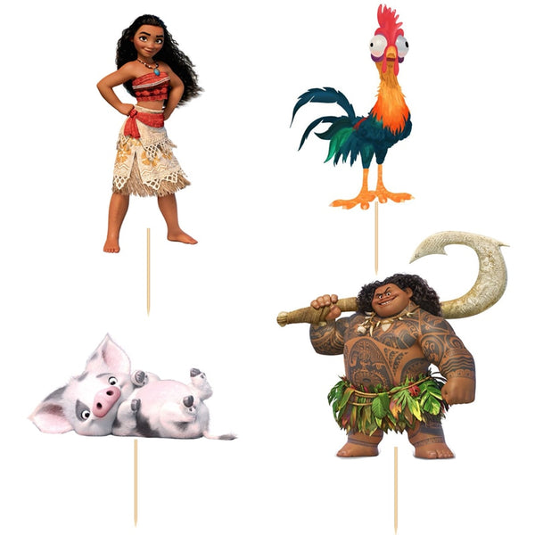 24 Cupcake Topper Moana, Cars, Tinkerbell, Minions und viele weitere Motive