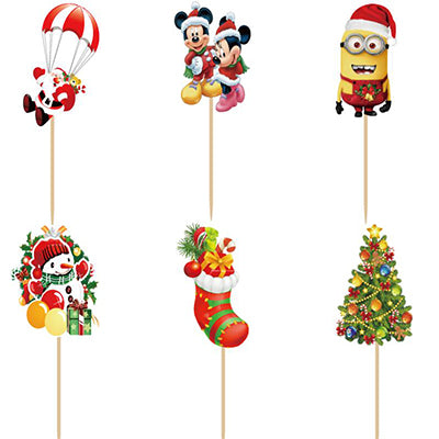 24 Weihnachts-Topper mit Mickey Mouse und Minions