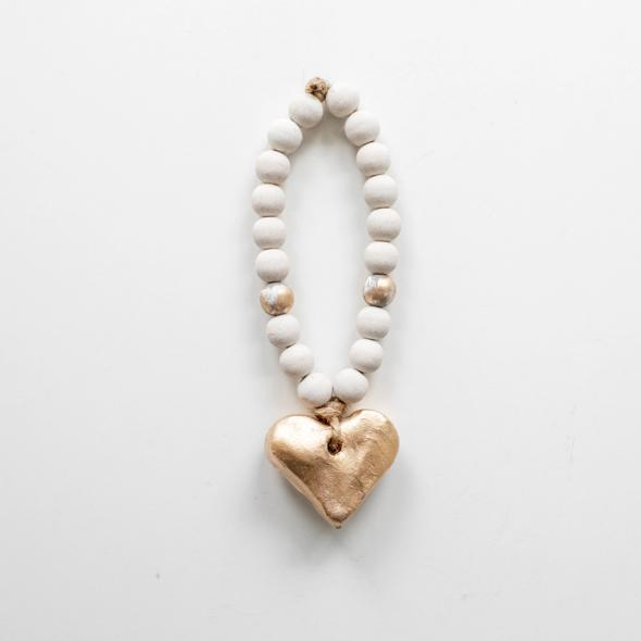 Bitty Heart White Blessing Beads