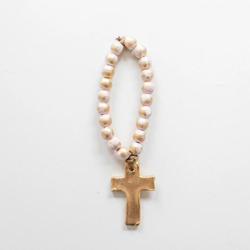 Bitty Cross Pink Blessing Beads