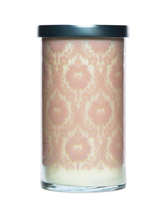 Peony Screen Printed Candle