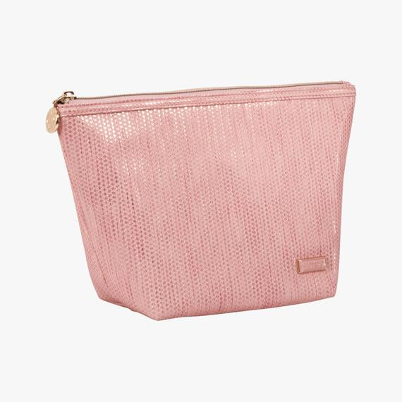 Aruba Pink Laura Large Trapezoid Makeup Bag