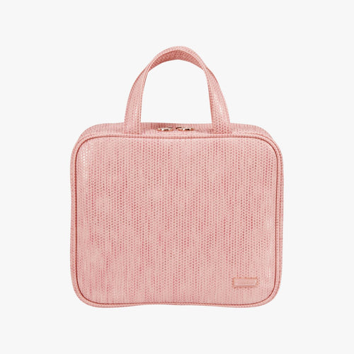 Aruba Pink Martha Large Briefcase Makeup Bag