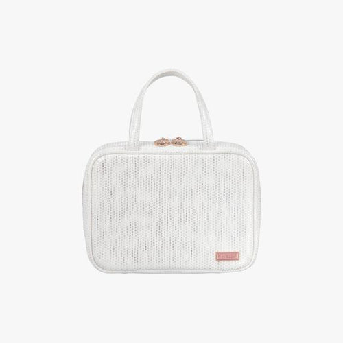 Aruba White ML Traveler Makeup Bag