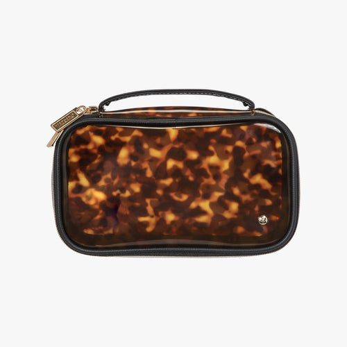 Miami Clearly Tortoise Claire Medium Makeup Bag