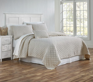Traditions Linen Louisa King Coverlet - Linen