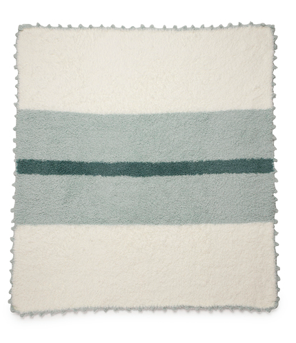 Cozychic Mint Striped Receiving Blanket